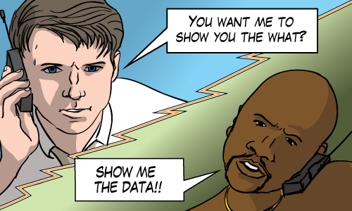 "Jerry Maguire is asked to ""Show Me The Data"""