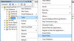 SSMS's Export Data...