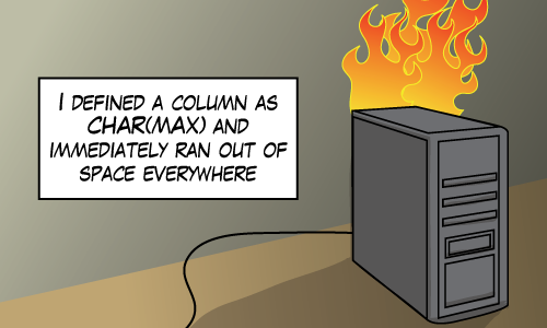 A joke about char(max)